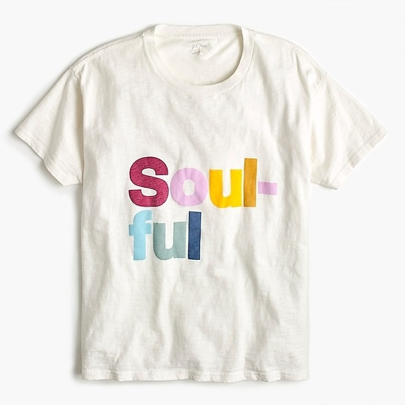 J. Crew Soulful graphic tee sz S NWOT